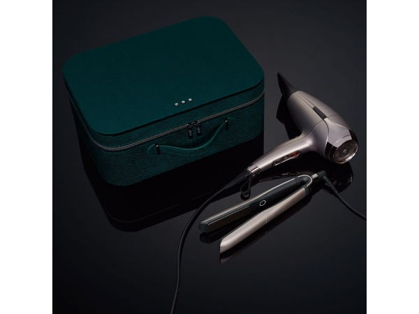 GHD PLATINUM+ & HELIOS™ LIMITED EDITION DELUXE GIFT SET IN WARM PEWTER